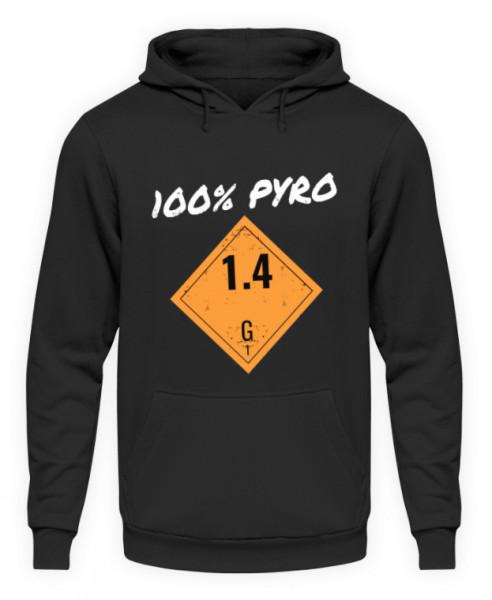 """Hoodie """"100% Pyro"""""""