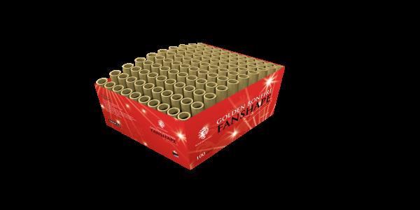 Bonfireworks Golden Fanshape 100-Schuss