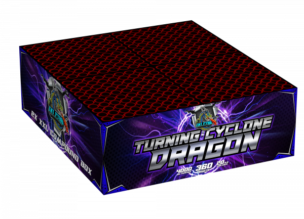 TNT Turning Cyclone Dragon 360-Schuss