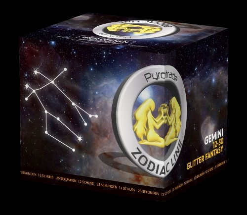 Pyrotrade Zodiac Glitter Fantasy Gemini